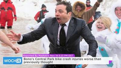 News video: Bono's Central Park Bike Crash Injuries Worse Than Previously Thought